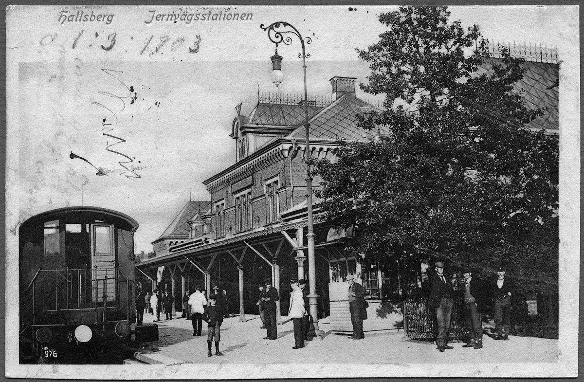 Hallsbergs järnvägsstation.
