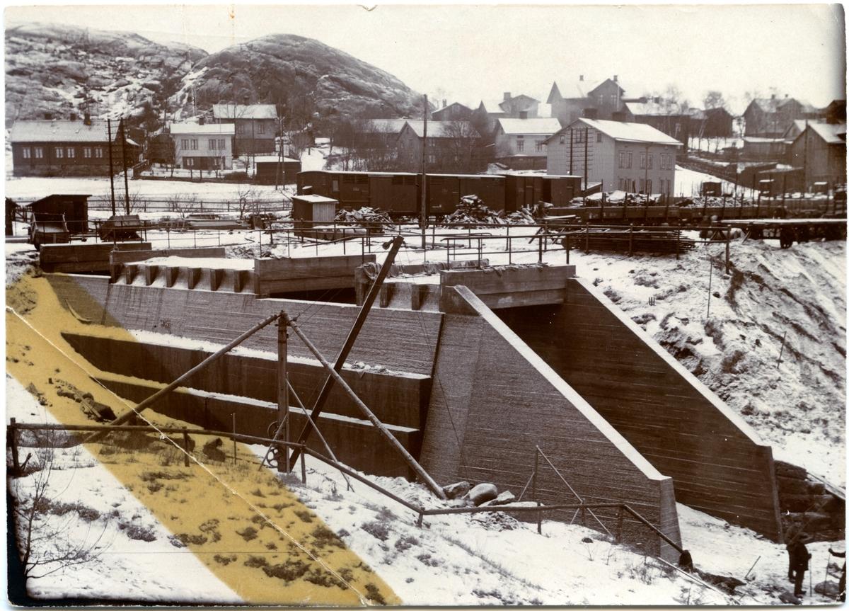 Tunnel under Mölndals station byggd 1915