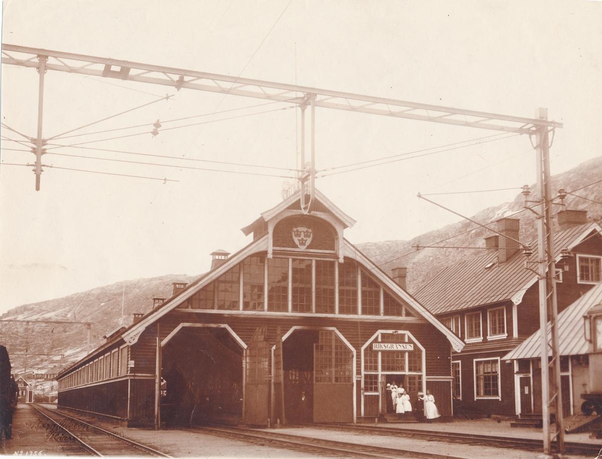 Riksgränsens station.