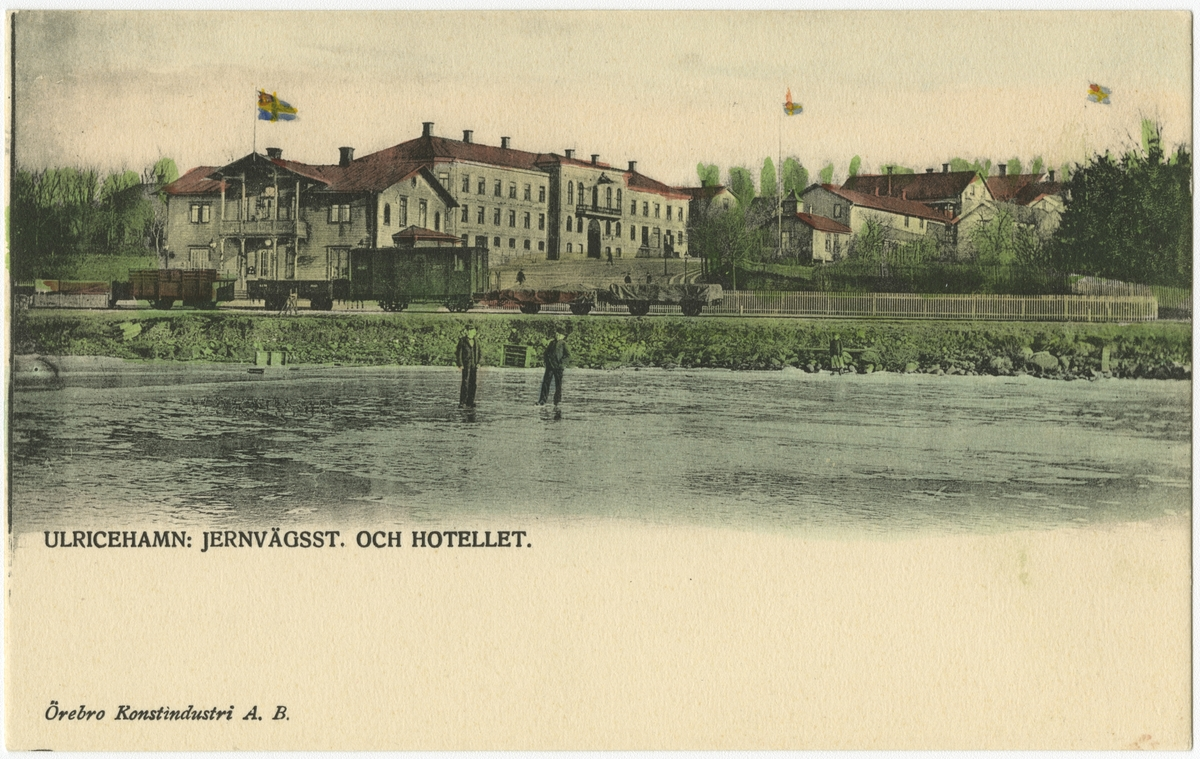 Ulricehamn gamla stationshus med hotell.