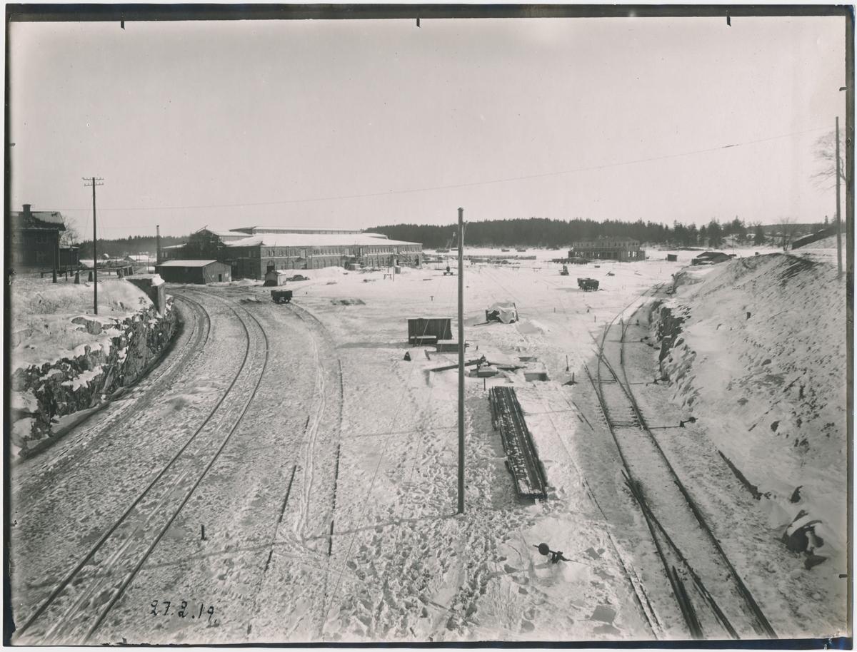 Värtan.Statens Järnvägar, SJ. Banan öppnades 1882.