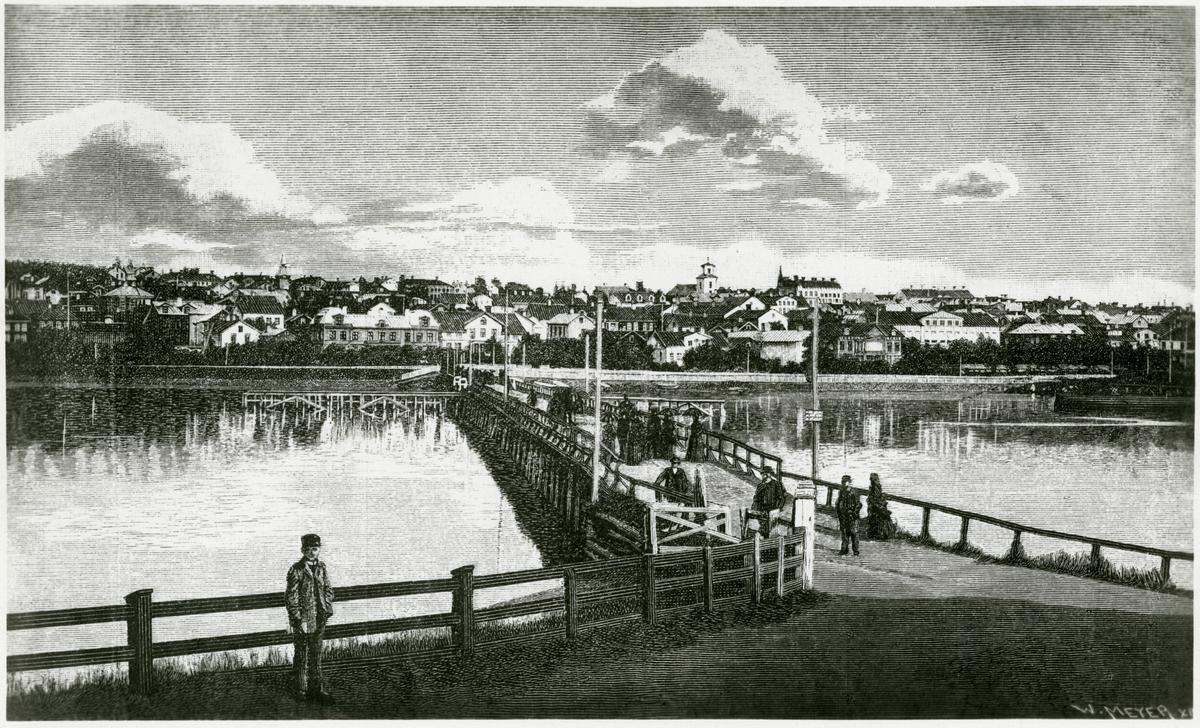 Östersund på 1870-talet.
