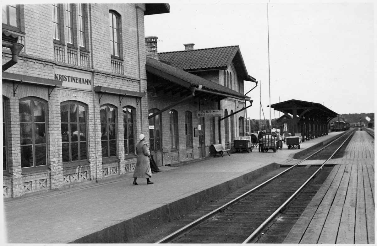 Kristinehamn station inför elektrifieringen.
