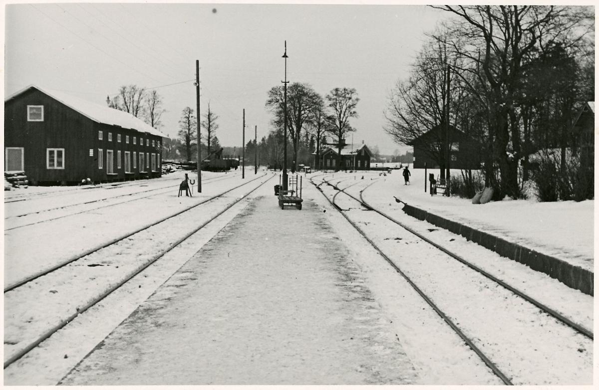 Del av stationsområdet i Åkers Styckebruk.