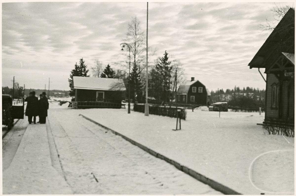 Inför elektrifieringen i Hällberga.