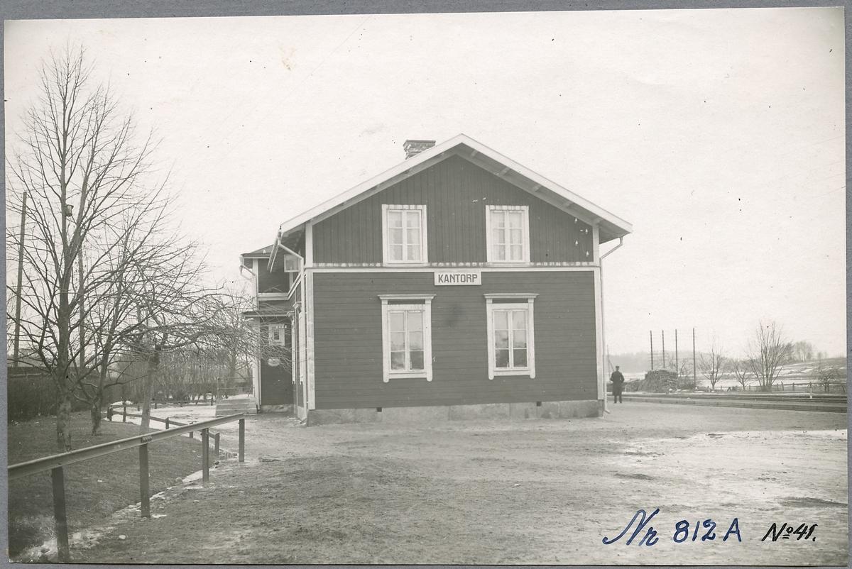 Gaveln på Kantorps stationshus.