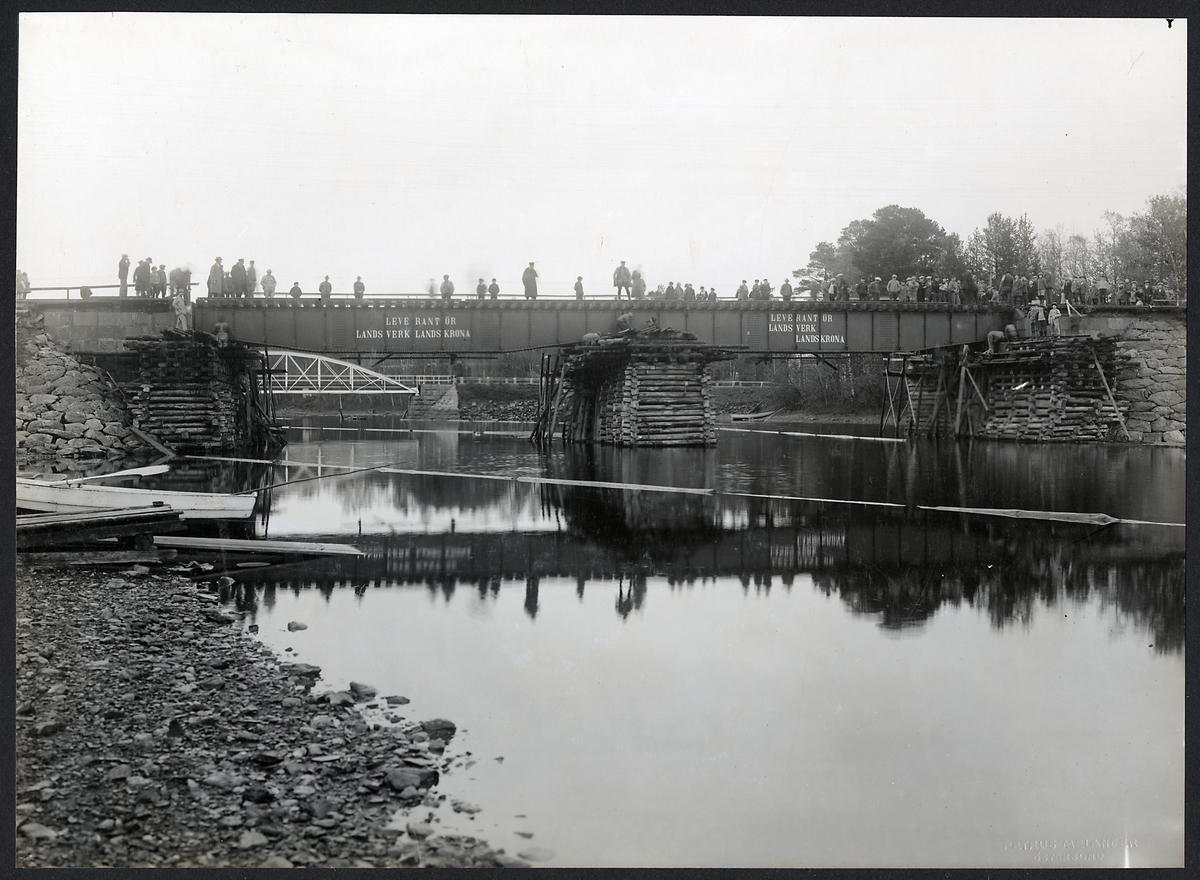 Järnvägsbron över Ytterån på linjen Östersund-Järpen.