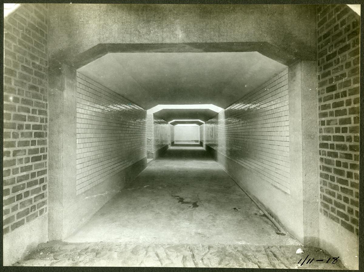 Tunnel vid brobygge för dubbelspåret över kanalen mellan Rönninge - Ström