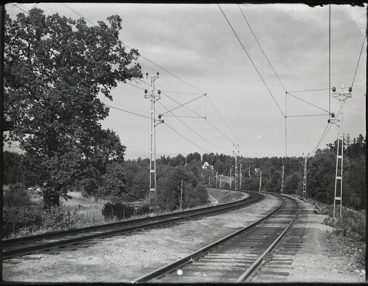 På linjen mellan Stockholm - Södertälje. El-driften av västra Stambanan.