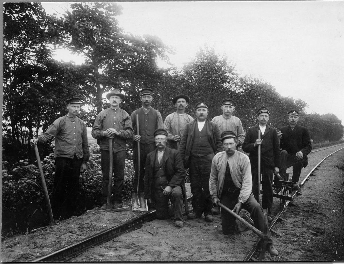 Rallarlag på Malmö-Genarps järnväg.