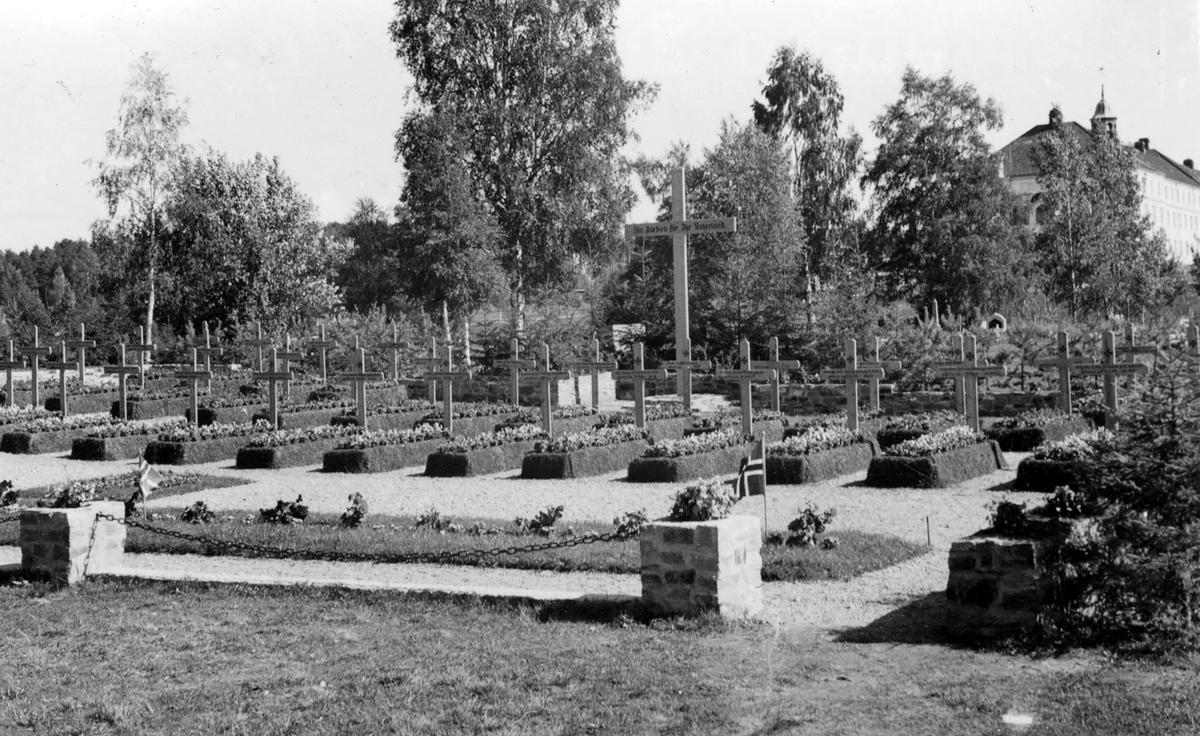 Den tyske krigskirkegården i Elverum