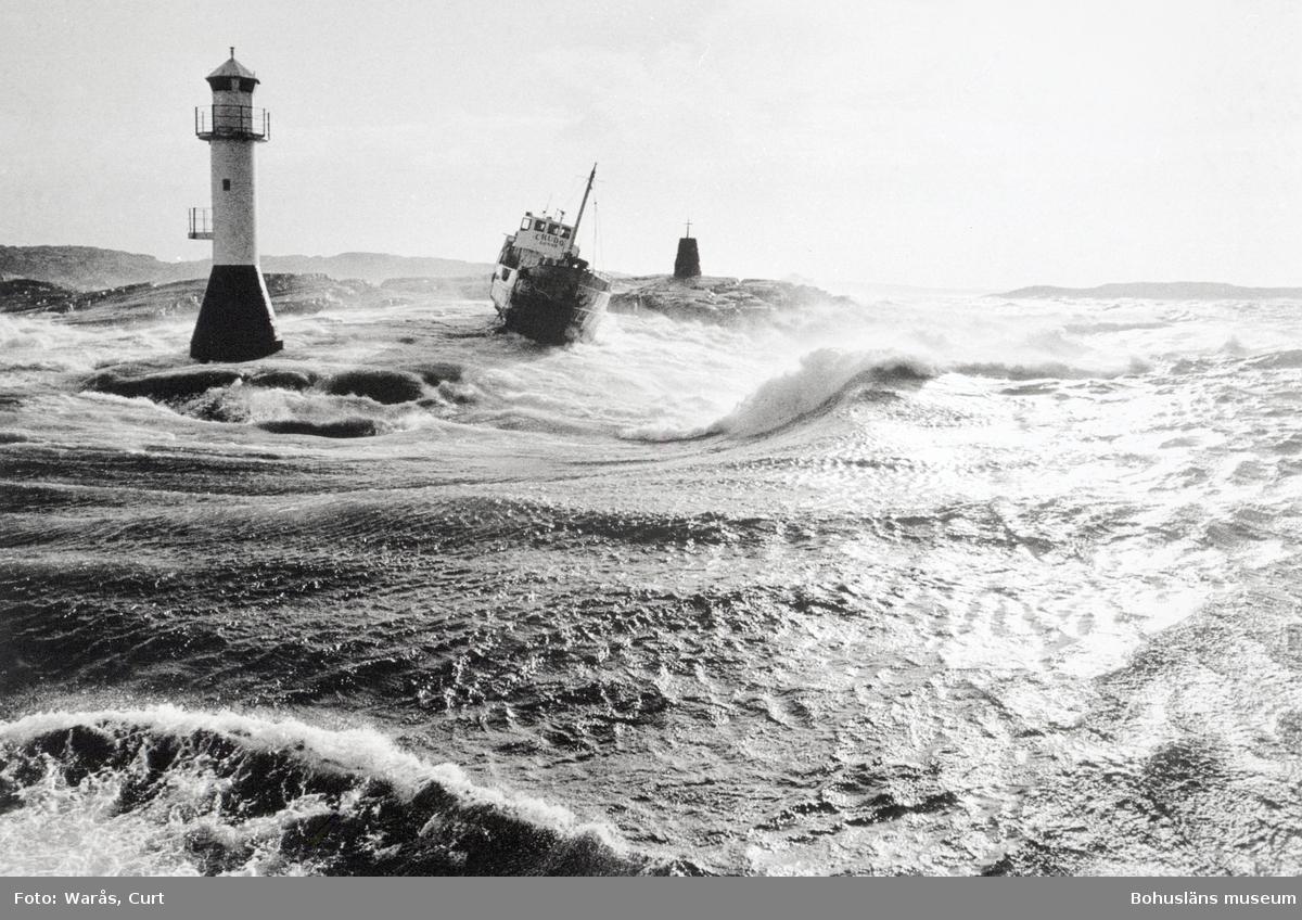 Tankbåten Crudo från Donsö har gått på grund och förlist vid Kråksunds gap