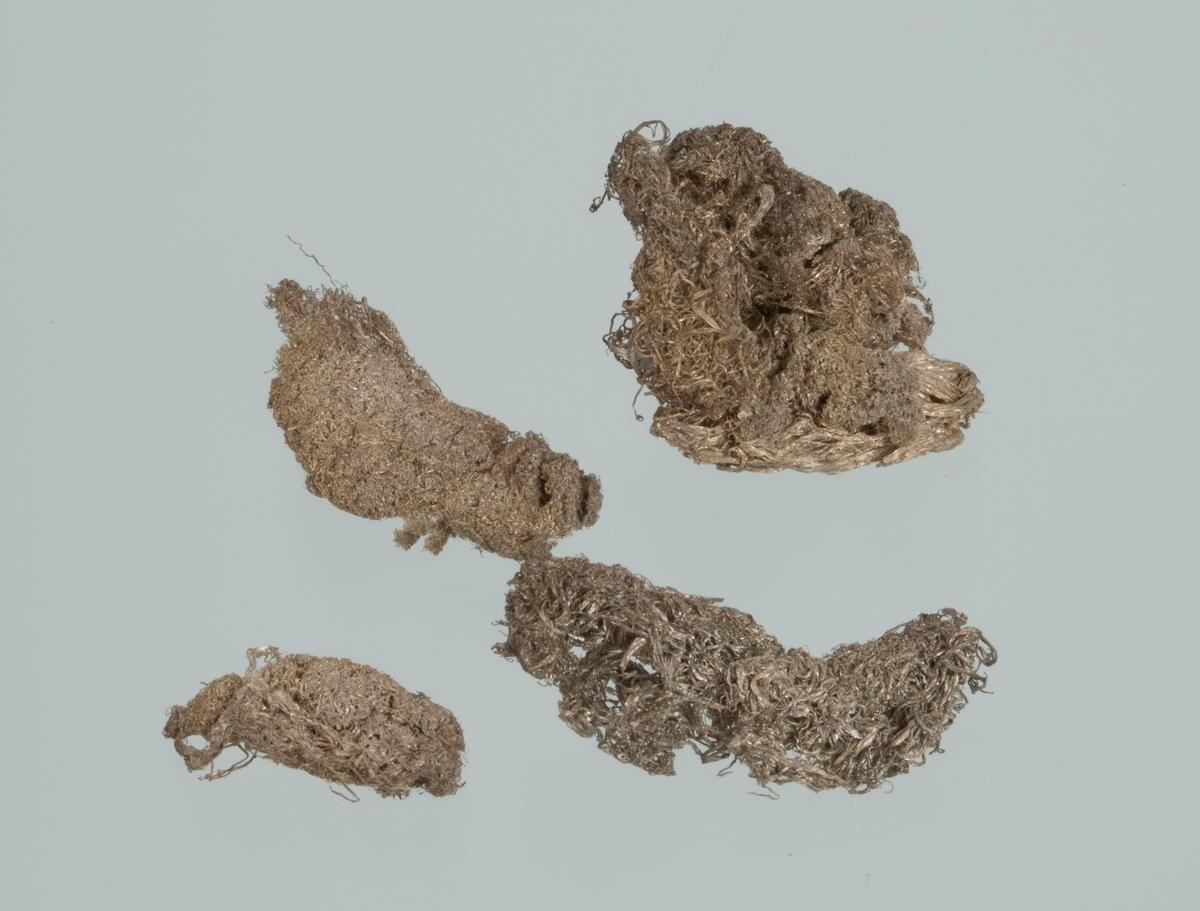 Mosesølv, 4 stykker Vekt: 5,60 g