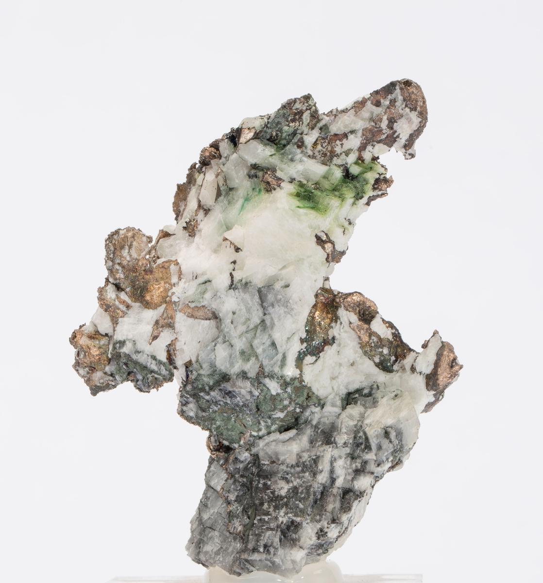 Fyllingsølv i kalsitt Gottes Hülfe gruve, 150 m Vekt: 272,51 g (med sokkel)