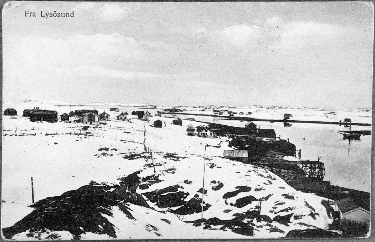 Postkort over Lysøysundet, Bjugn.