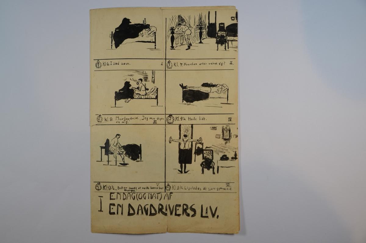 Tegneserie i A5 format tegnet og forfattet av den da 16-årige Alfred Oster den 2. januar 1909. Fire sider. Sort-hvitt.