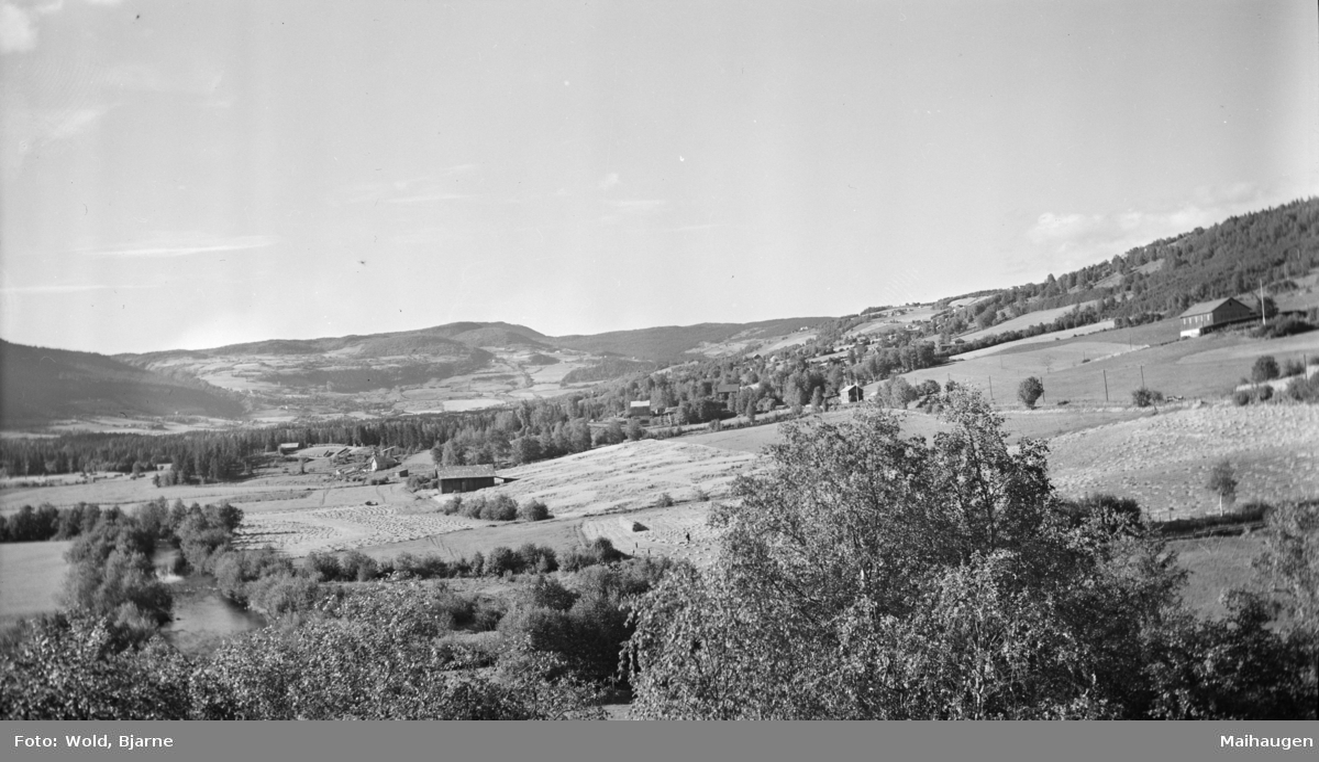 Østre Gausdal, utsikt fra Fjerdrum skole
