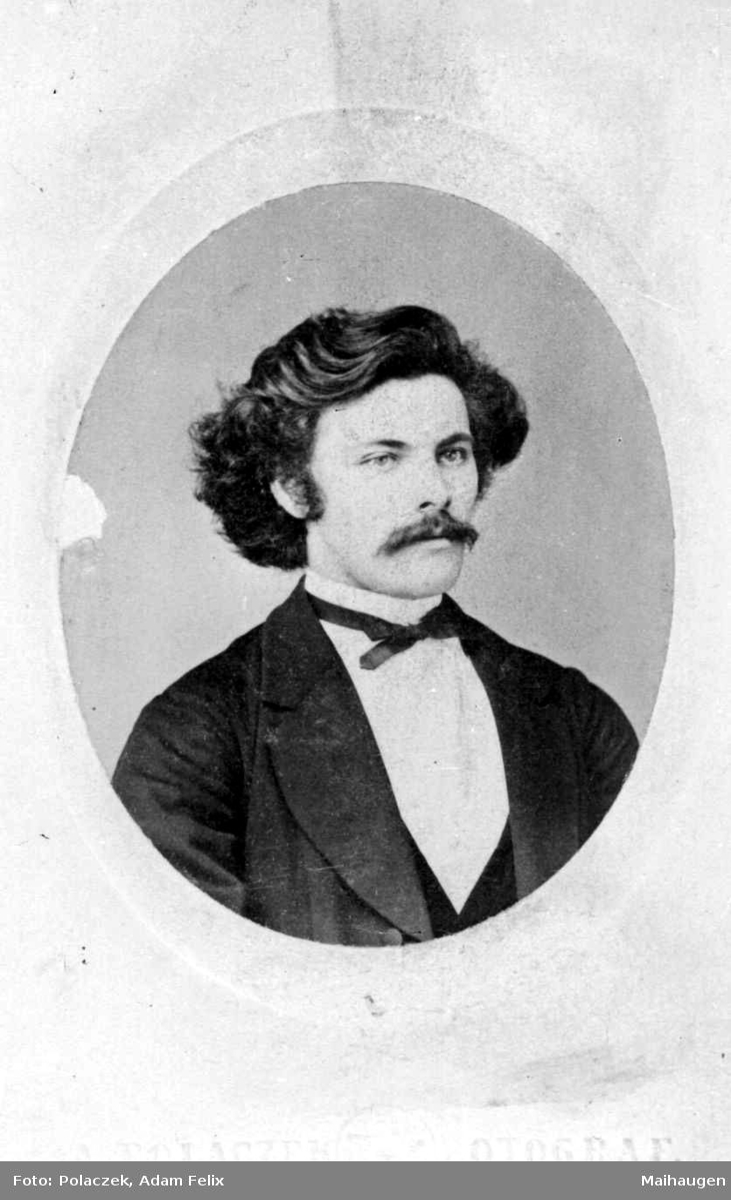 Repro av portrett mann etter fotograf A. Polaczek