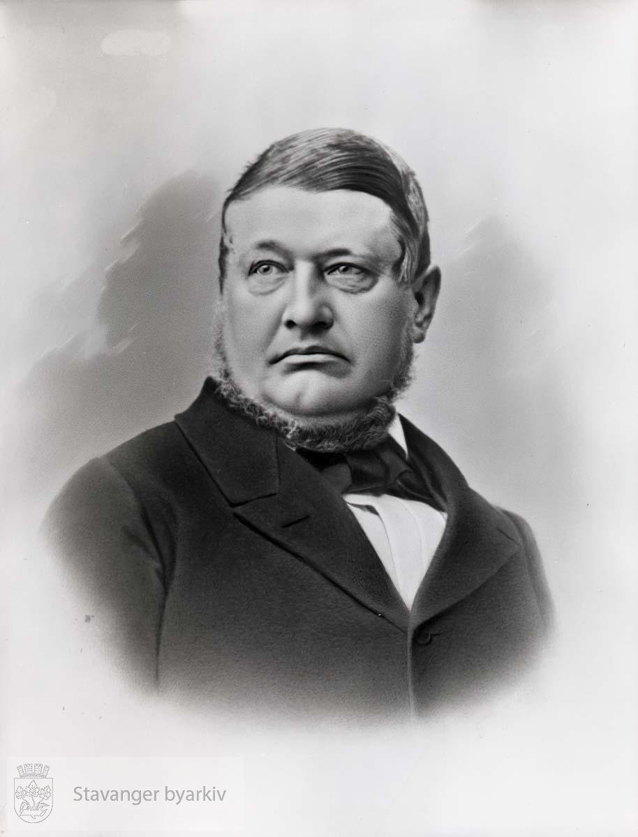 Ordfører i Stavanger i 1866. Født i København. Kom til Stavanger i 1833. Kjøpmann og skipsreder. Stadshauptmann 1848-1868.