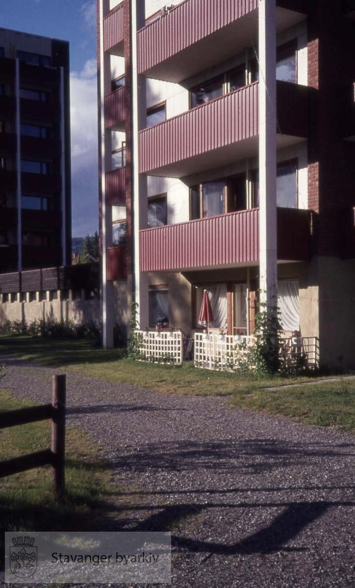 Balkonger på boligblokk