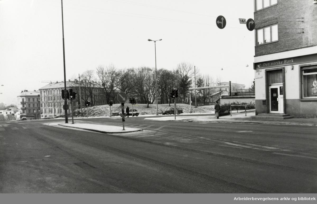 Galgeberg. Strømsveien. Januar 1993
