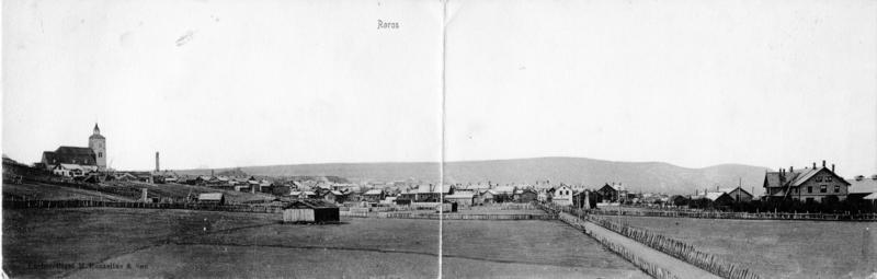 Panorama over Røros fra vest