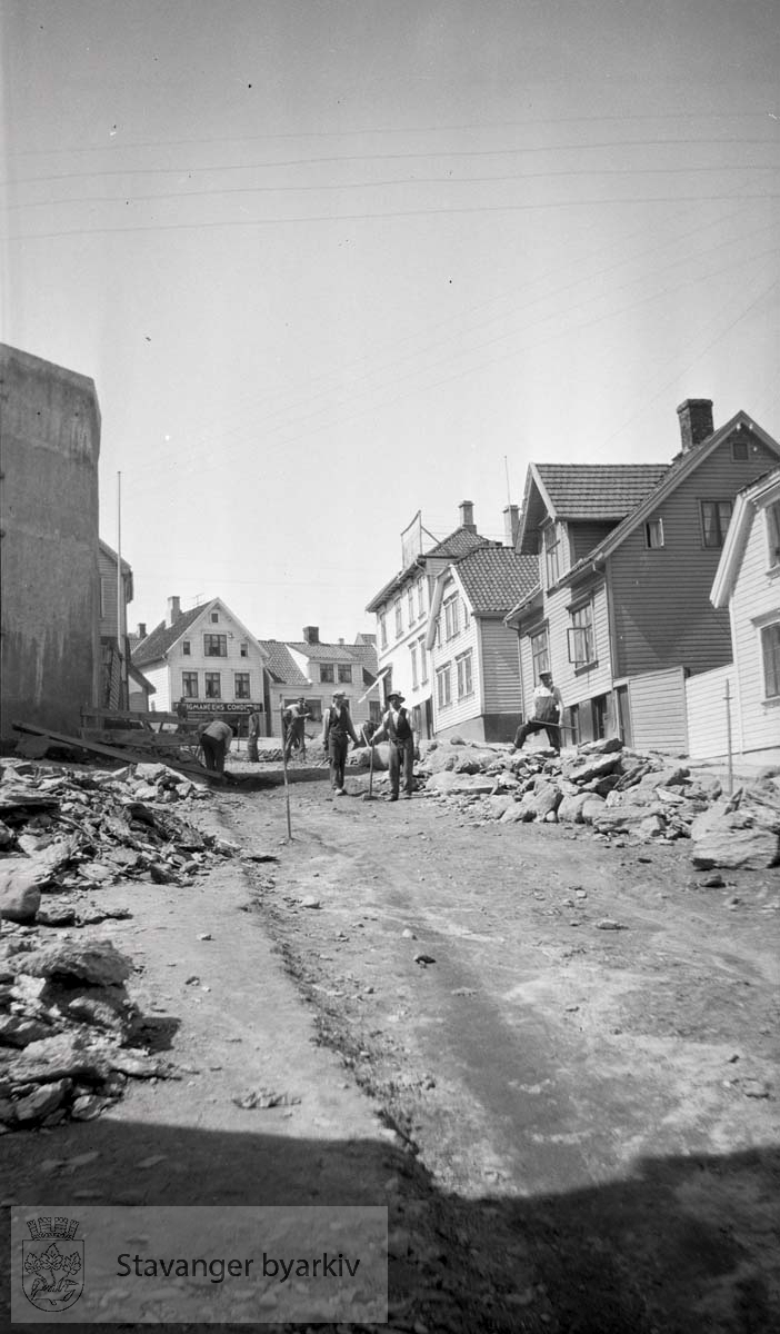 Veiarbeid i Bergene eller Tidegeilen, som gateløpet heter i dag.