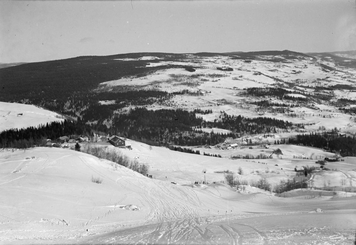 Ved Berget i Østre Gausdal, start på utforløype