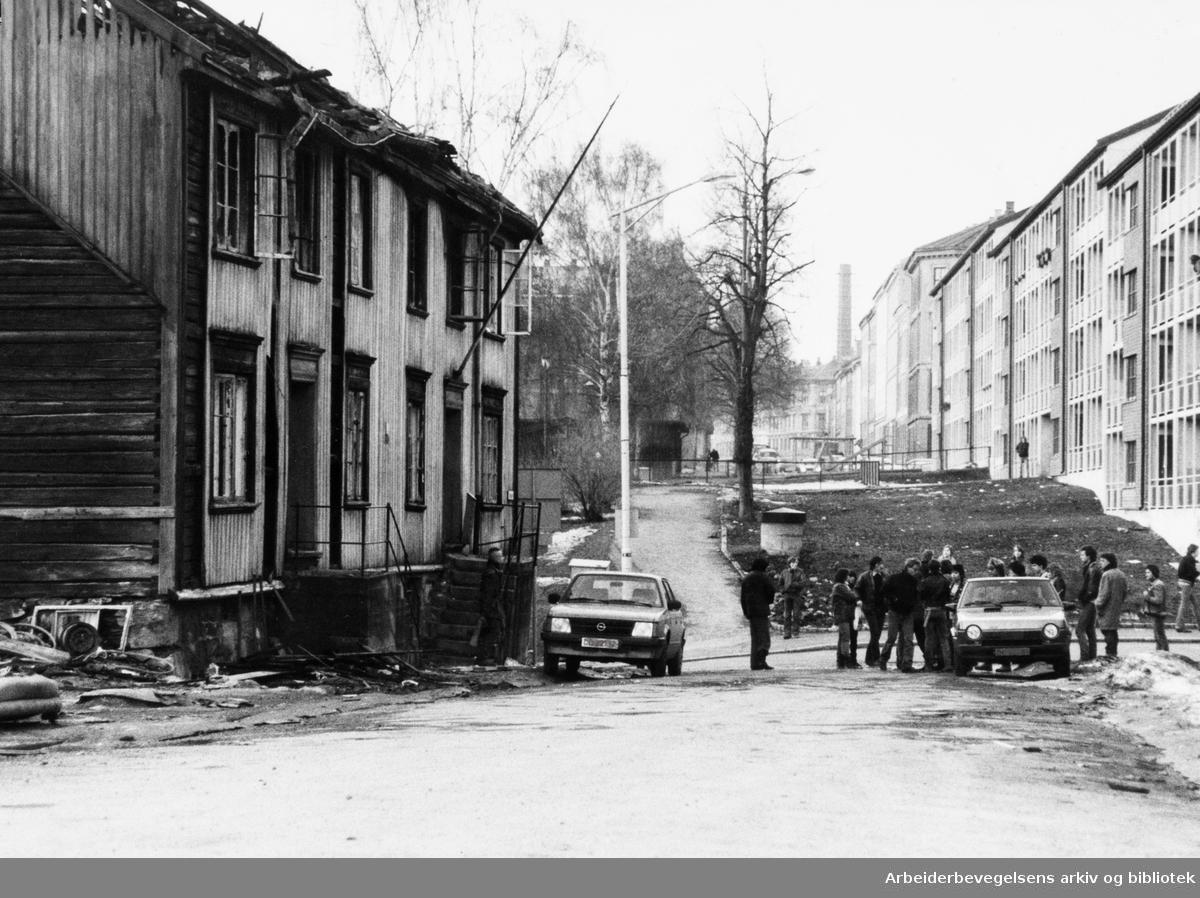 Grünerløkka, Øvre gate. Mars 1982