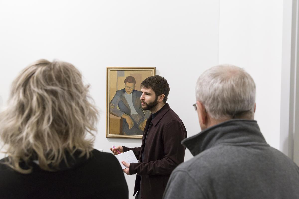 Bilder fra åpningen 23. mars 2019. Omvisning og førvisning med TKM Kunstklubb. Foto: Christina Undrum Andersen / TKM.