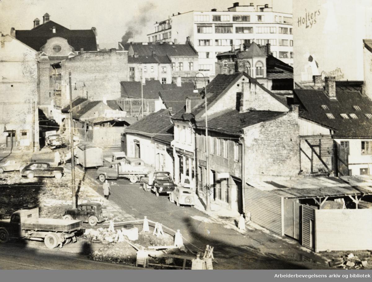 Grønland. Rødfyllgata. Oktober 1957