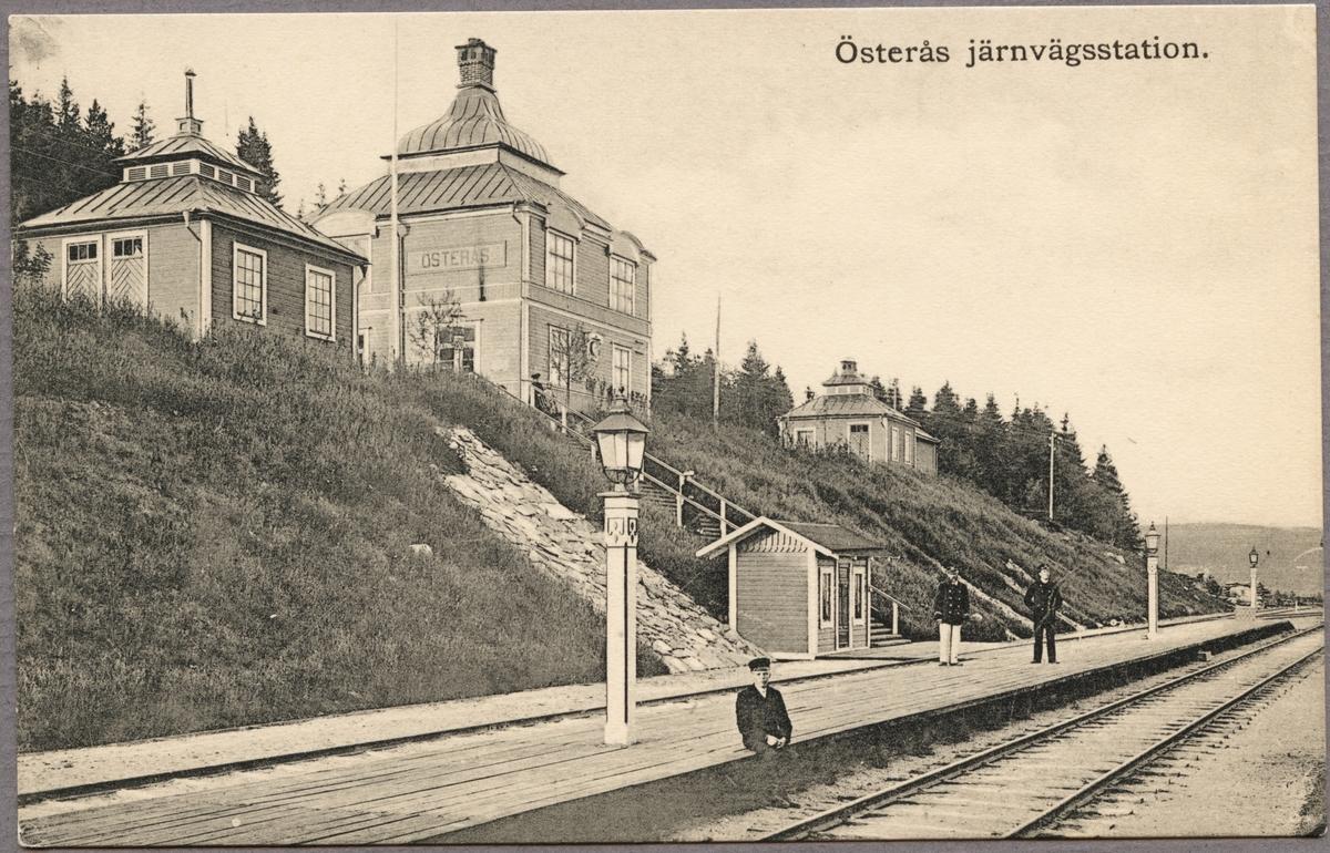 Österås järnvägsstation.