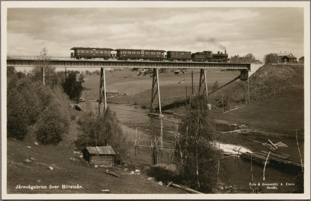 Järnvägsbron över Billstaån på linjen mellan Svenstavik och Hackås.