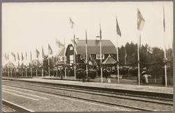 Invigning av banan Sveg - Hede på järnvägsstationen i Sveg 1