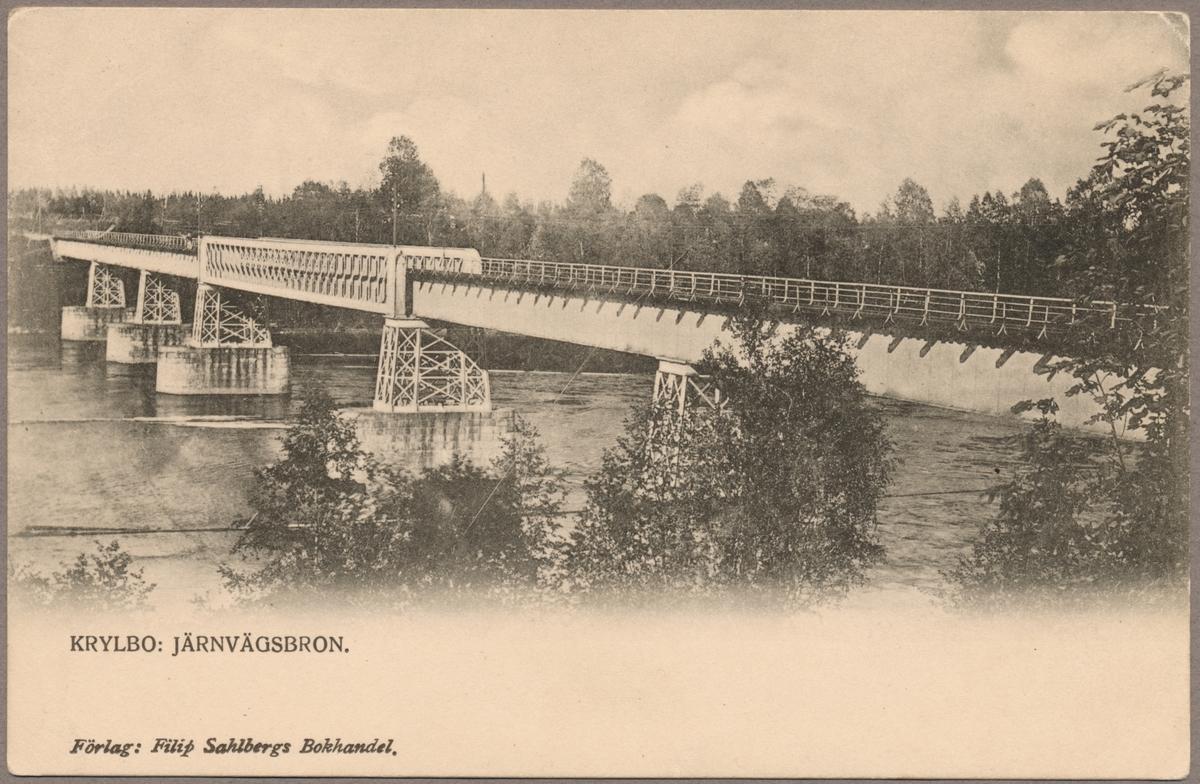Järnvägsbro mellan Avesta Krylbo och Jularbo.