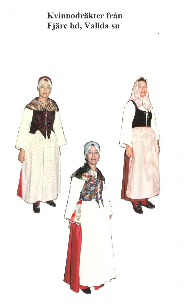 Folkdräkt från Vallda i Halland