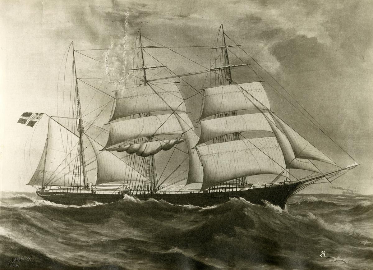 Fullrigger 'Høvding' (b.1868, A. B. Bull (J. Jensen), Fagerheim, Tønsberg, Norge)