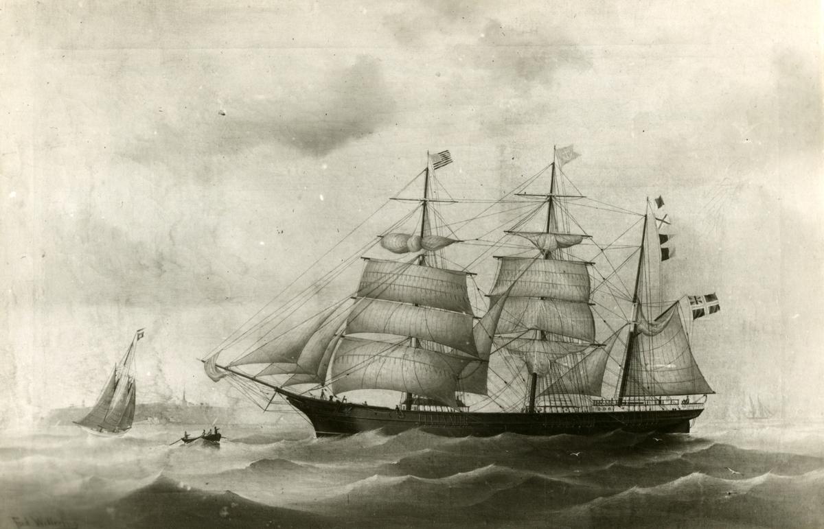 Bark 'Imperator' (b.1870, O. Dahl, Larvik, Norge)