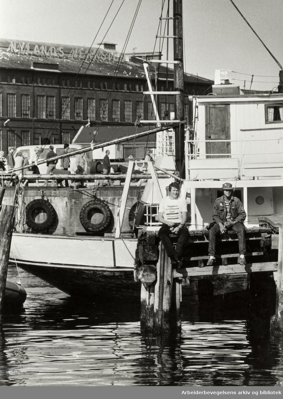 Oslo: Havna. Stemningsbilde. September 1982