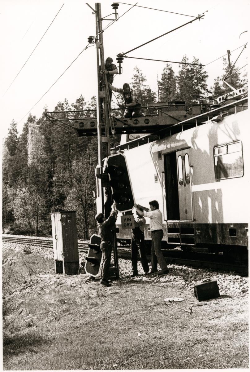 Hlleforsns station. - Jrnvgsmuseet / DigitaltMuseum