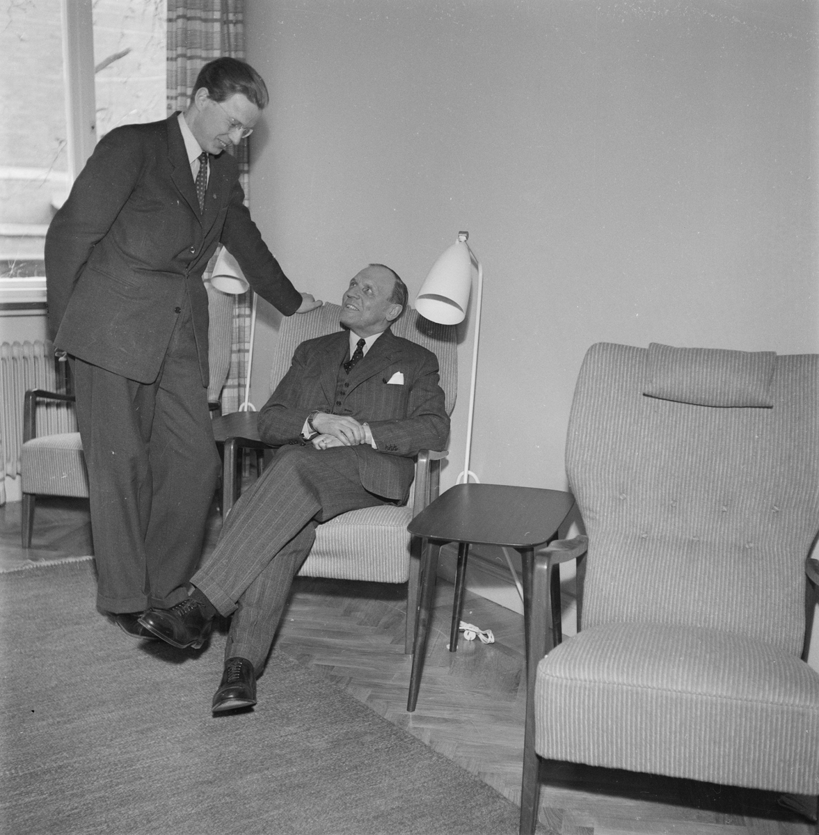 Gästrike-Hälsinge nation, nyrenovering, Uppsala, april 1952