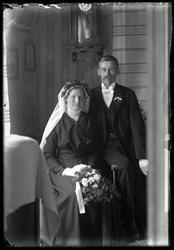 Bröllopsbild med Smens Gustav i Östorp