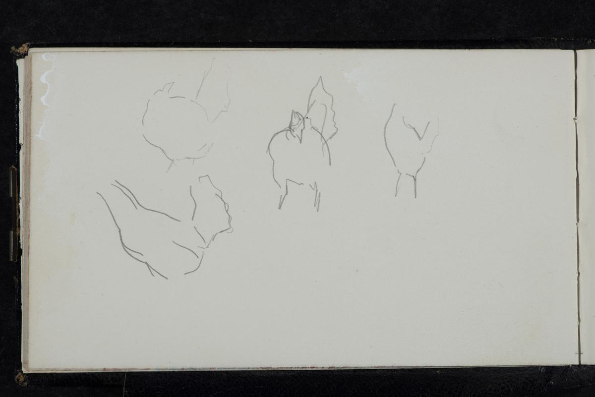 Skisser på ark