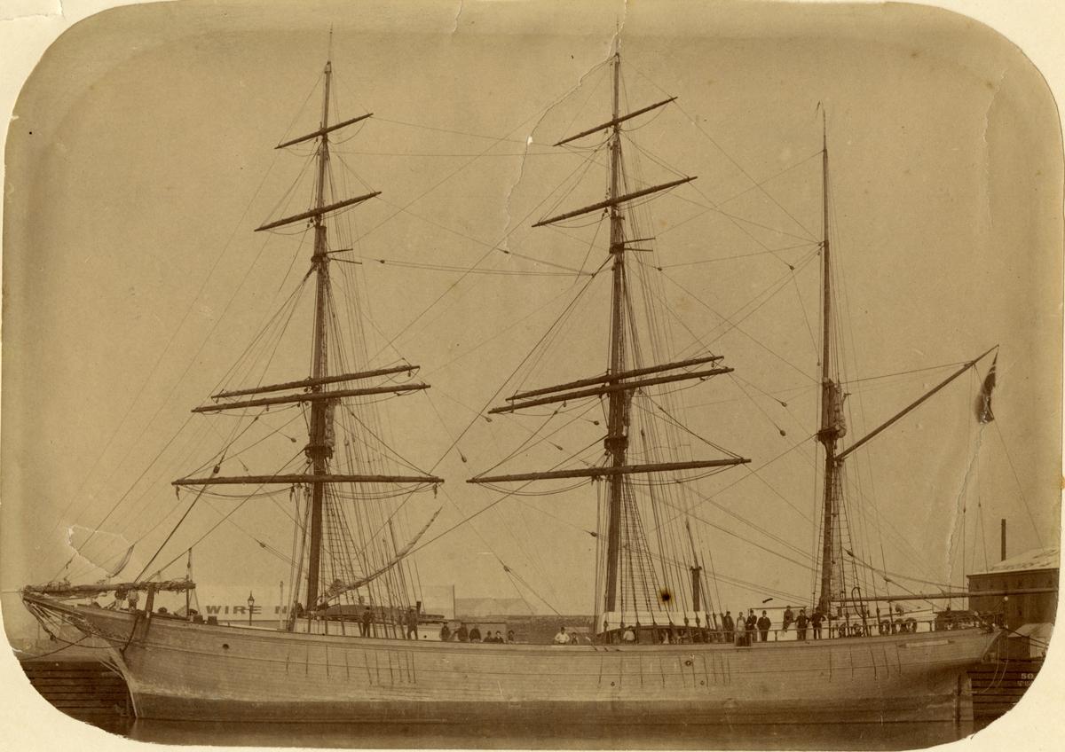 Bark 'Guldax' (b.1878, O. & P. Knudsens værft, Lillesand, Norge)