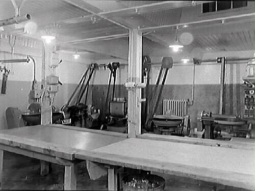 Interiör från Kooperativa AB:s charkuterifabrik, Varberg.