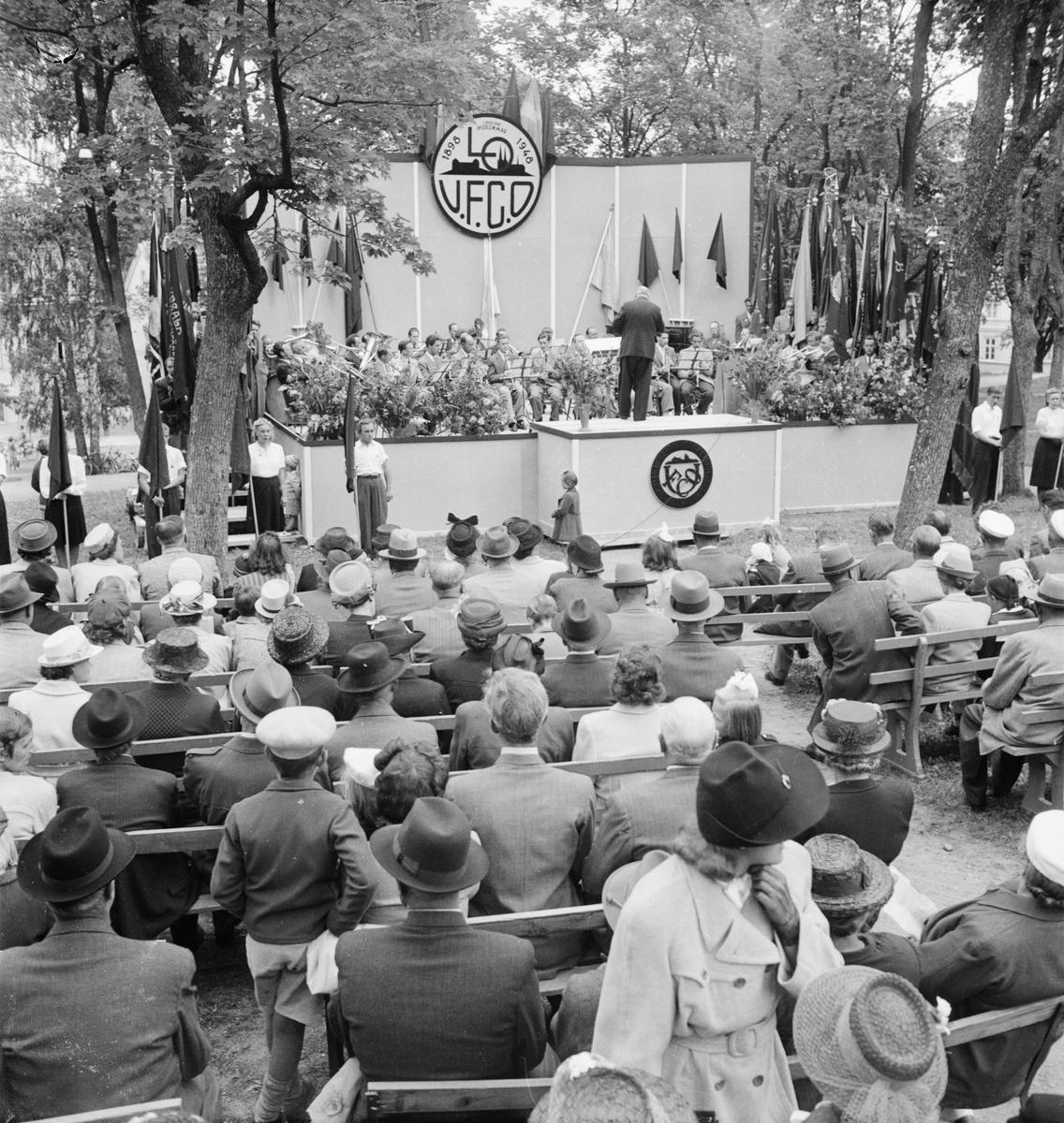 Landsorganisationens 50-årsjubileum, Slottsbacken, Uppsala 1948
