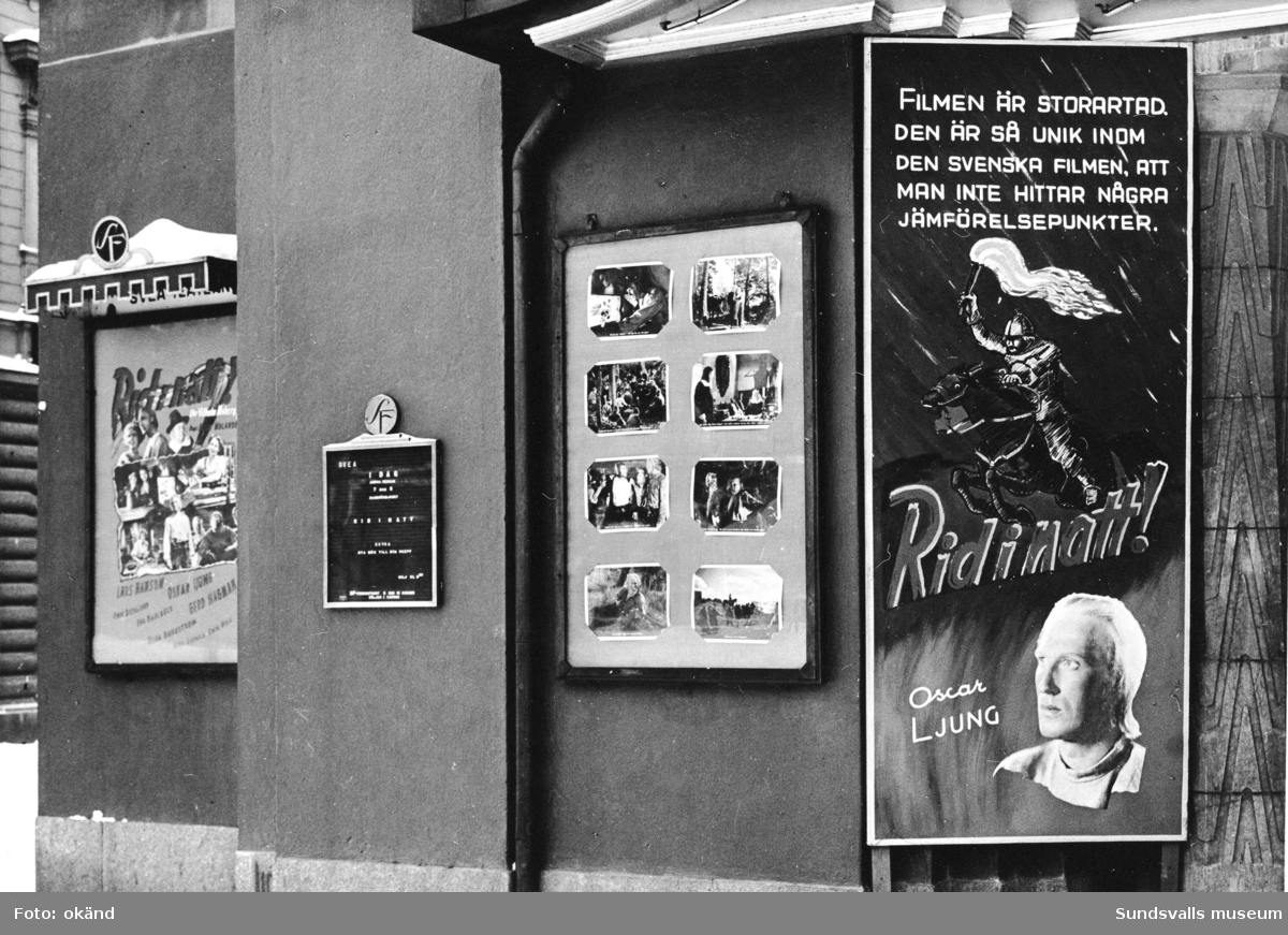"""""""Rid i natt"""", program på Svea-biografen."""