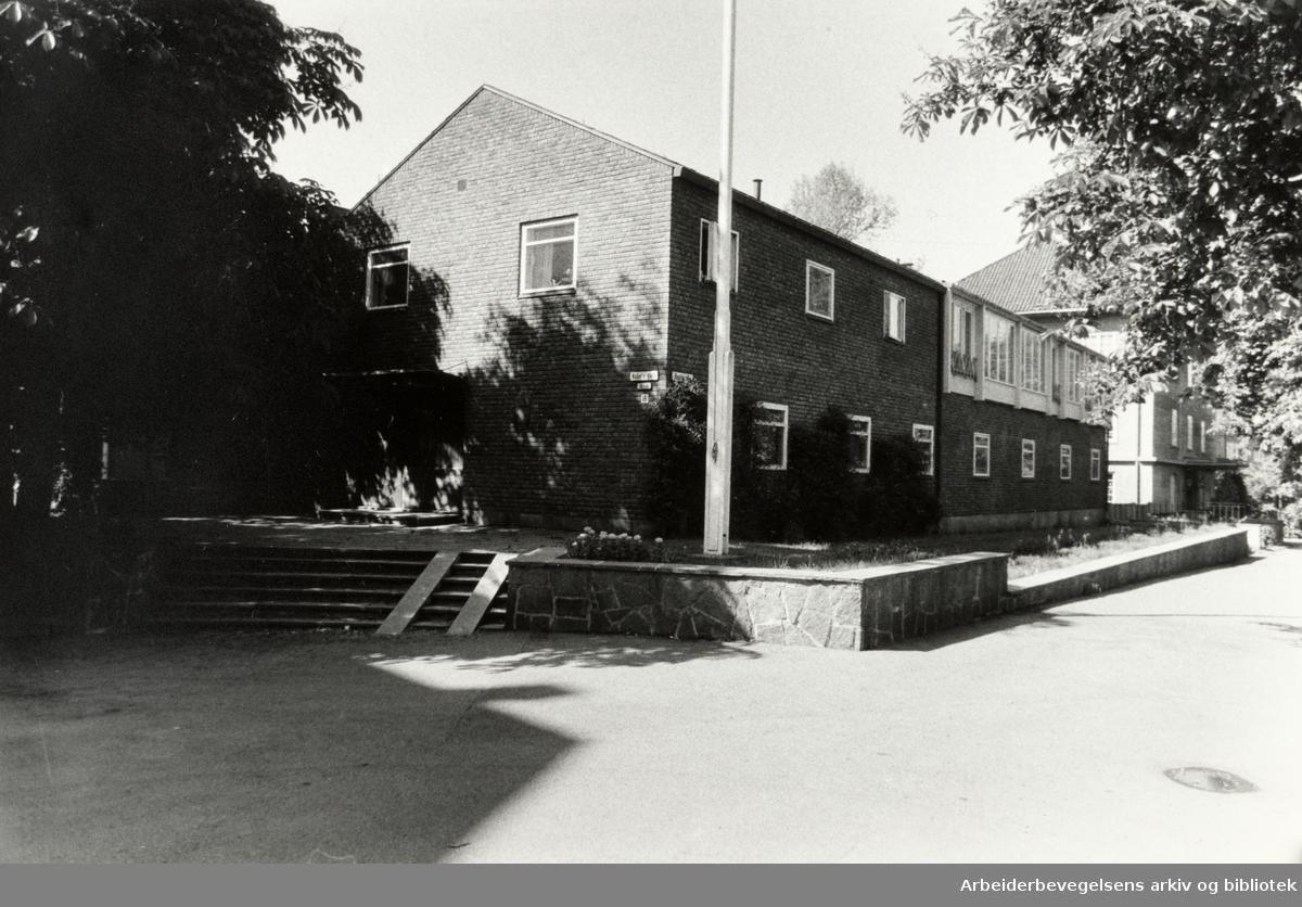 Nobels gate. Sveriges Ambassade. Juli 1986