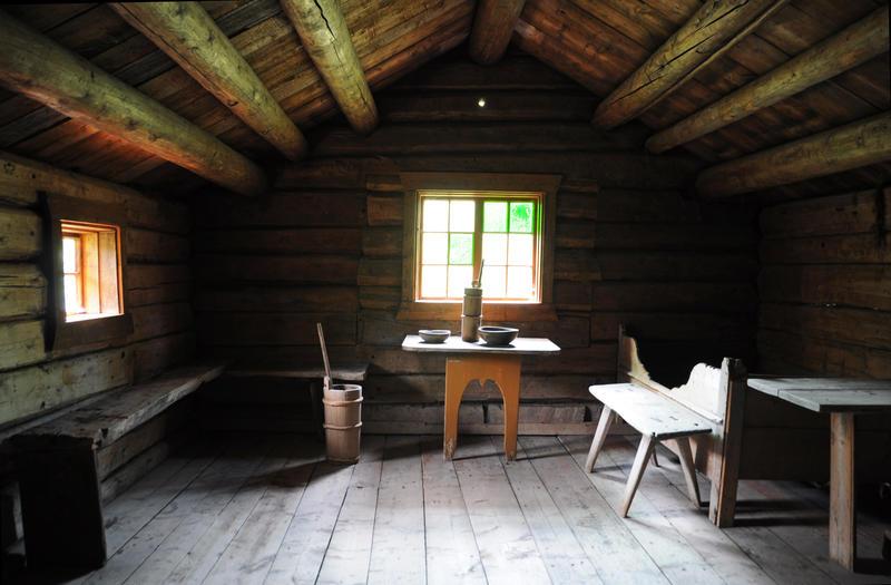 Rennsennselet. Tredelt sel frå kring 1700. Flytt til Valdres Folkemuseum på 1950-tallet. (Foto/Photo)