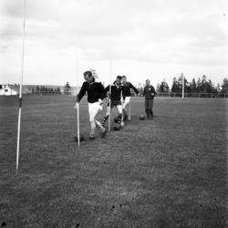 Unga fotbollstalanger tränar på Kustängens IP i Stockvik.